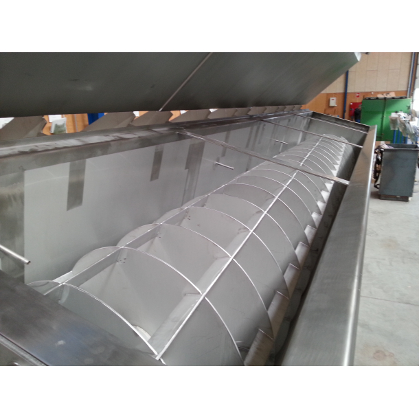 Screw conveyor system for the food industry